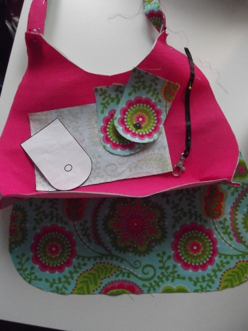 bright handbag pattern pieces